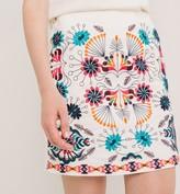 Promod Short embroidered skirt
