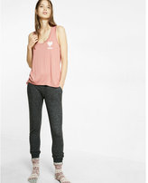 Express one eleven heart scoop neck muscle tank