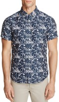 Billy Reid Murphy Tropical Leaf Print Slim Fit Button-Down Shirt
