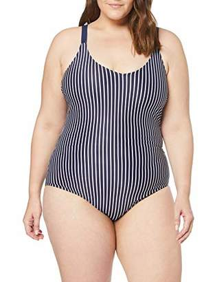 Zizzi Swim by Women's Badeanzug Swimming Costume, (Dark Blue 9999), (Size: 54)
