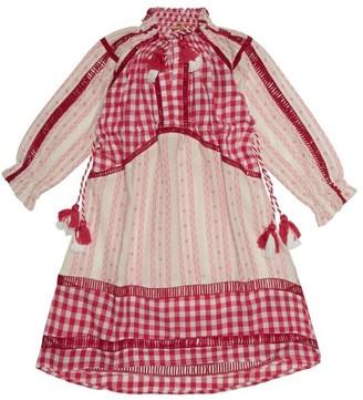 Dodo Bar Or Kids Regina Embroidered Cotton Dress - Pink