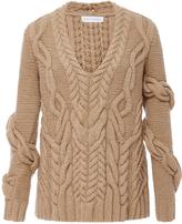 Partow Bay Wrap Cableknit Sweater