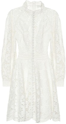Zimmermann Bells linen and cotton minidress