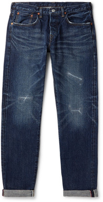 Edwin Slim-Fit Distressed Selvedge Denim Jeans