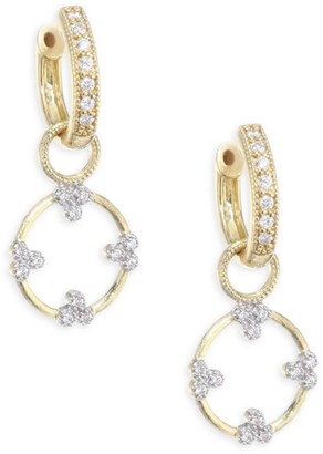Jude Frances Champagne Open Circle Diamond Trio Earring Charms