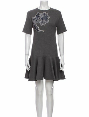Louis Vuitton Floral Print Mini Dress Grey