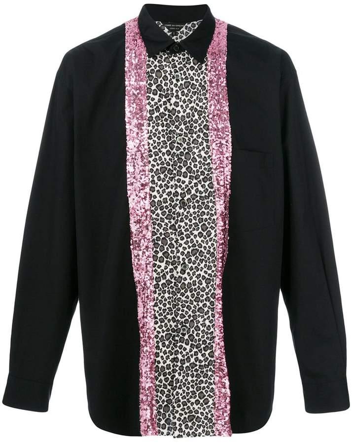 Comme des Garcons leopard print shirt