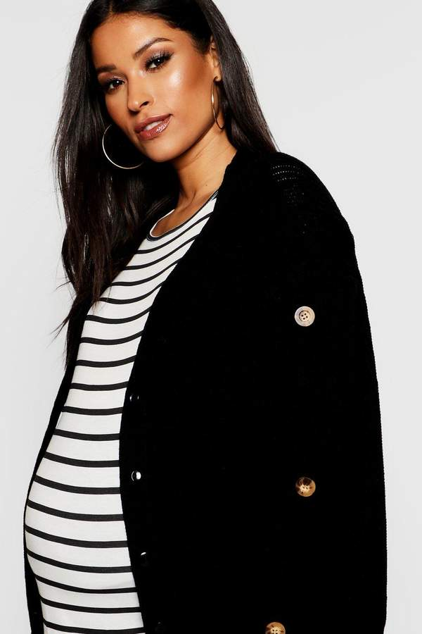Maternity Mock Horn Button Cardigan