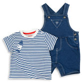 Guess Two-Piece Knitted Tee and Overalls Set