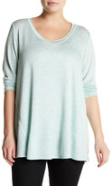 Bobeau V-Neck French Terry Shirt (Plus Size)