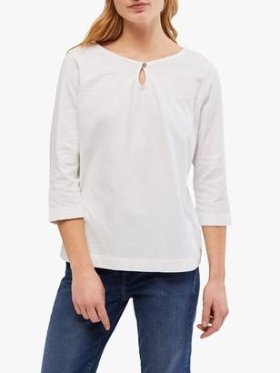 White Stuff Artist Embroidered Cotton Jersey T-Shirt
