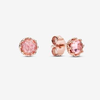 Pandora Pink Sparkling Crown Stud Earrings