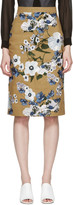 Erdem Tan Embroidered Skirt