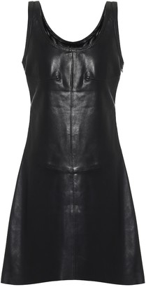 Helmut Lang Leather minidress