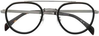 David Beckham Layered Aviator Frame Glasses