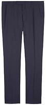 Jaeger Mini Grid Wool Regular Fit Suit Trousers, Navy
