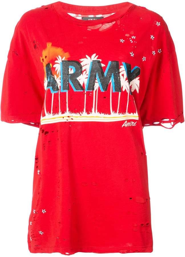 Amiri oversized army T-shirt