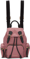 Burberry Pink Small Nylon Backpack
