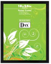Dax Black Wood 18-Inch x 24-Inch Poster Frame