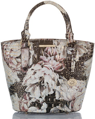 Brahmin Small Bowie Croc Embossed Leather Tote