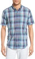 Tailor Vintage Men's Crinkle Plaid Sport Shirt