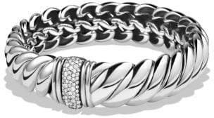 David Yurman Hampton Cable Bracelet With Diamonds, 14Mm