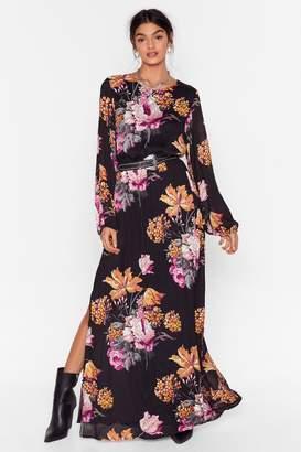 Nasty Gal Womens Open Back Cowl Midi Tea Dress - black - 6