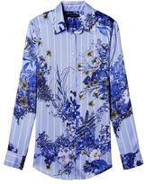 Banana Republic Dillon-Fit Floral Stripe Shirt