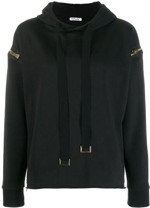 Parlor zip detail hoodie
