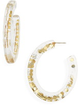 Madewell Paillette Resin Oval Hoop Earrings