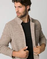 Le Château Two-Tone Knit Slim Fit Blazer