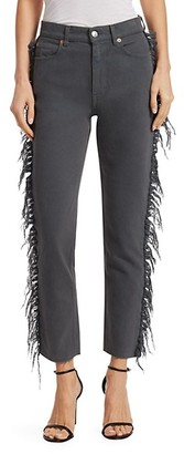 Iro . Jeans Movement Fringe-Trimmed Cropped Jeans