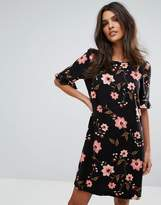 Vero Moda Floral Frill Sleeve Shift Dress