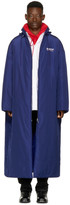 Balenciaga Blue Campaign Logo Raincoat