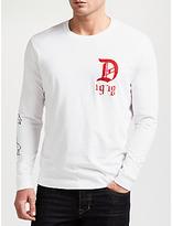 Diesel T-joe Long Sleeve T-shirt, Bright White