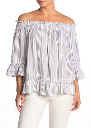 Vince Camuto Striped Off-the-Shoulder Blouse