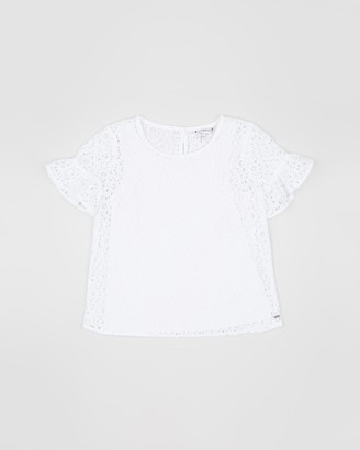 Tommy Hilfiger Ceremonial 2-in-1 Short Sleeve Lace Top - Teen