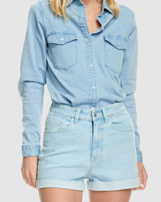 RES Denim Women's Blue Shorts - Kelly Short - Size One Size, 26 at The Iconic