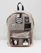 Asos Backpack In Acid Wash With Badges