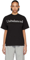 Aries Black New Balance Edition Unbalanced T-Shirt