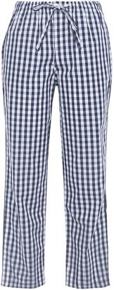 Sleepy Jones Cropped Gingham Cotton-poplin Pajama Pants