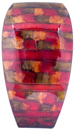 HomeRoots Quay Copper Red Gold Ceramic Foil and Lacquer Modern Vase