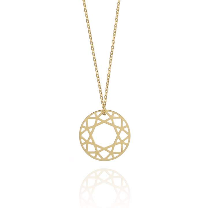 Myia Bonner 9k Gold Small Brilliant Diamond Necklace
