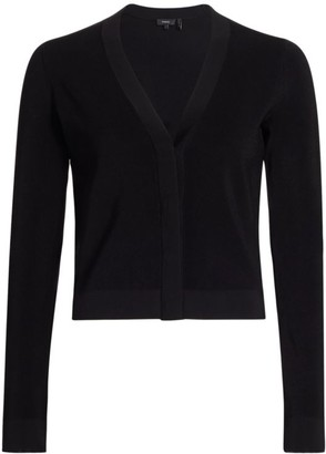 Theory Ribbed Cropped Cardigan