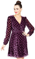 Betsey Johnson Dotted Faux Wrap Dress