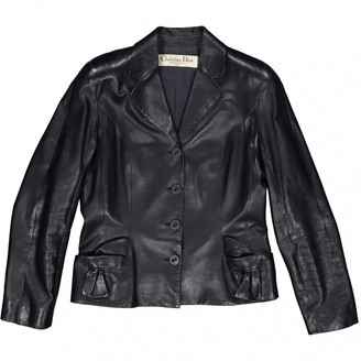 Christian Dior Navy Leather Jackets