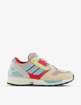 adidas ZX 8000 mesh and leather trainers