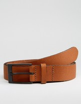 Asos Smart Leather Belt With Emboss