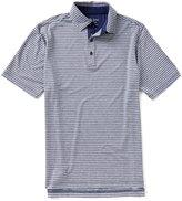 Bobby Jones Golf XH2O Sutton Stripe Stretch Jersey Short-Sleeve Polo Shirt