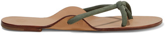 The Row Hawaii Knotted Suede Sandals
